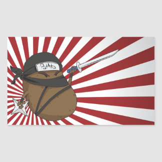 Potato Ninja Sticker