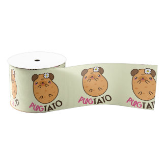 Potato Pugtato Grosgrain Ribbon