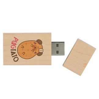 Potato Pugtato Wood USB Flash Drive