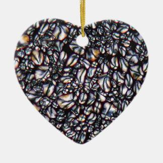 Potato Starch under the Microscope Ceramic Heart Ornament