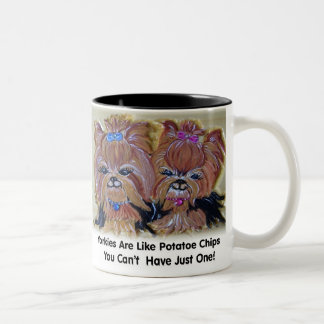 Potatoe Chip Yorkies Two-Tone Coffee Mug