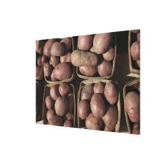 Potatoes at a New Jersey farmer's market Canvas Print