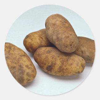 Potatoes Classic Round Sticker