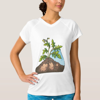 Potatoes Growing Womens Active Tee