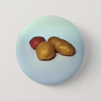 Potatoes on white background 2 inch round button
