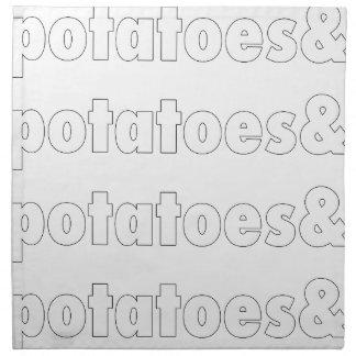 Potatoes & Potatoes & Potatoes Napkin