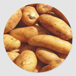potatoes round sticker