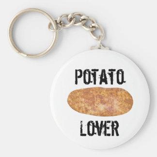 Potatoes Series Basic Round Button Keychain