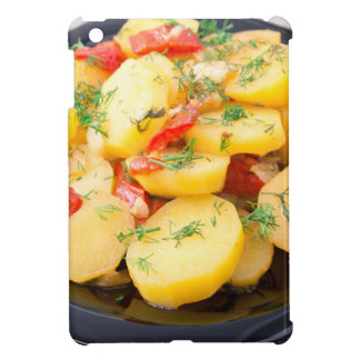 Potatoes with onion, bell pepper and fennel iPad mini cover