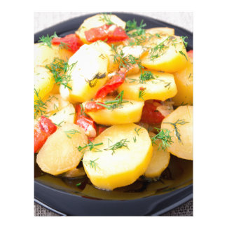 Potatoes with onion, bell pepper and fennel letterhead