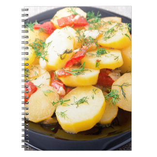 Potatoes with onion, bell pepper and fennel notebook