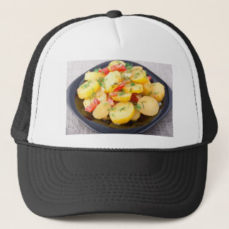 Potatoes with onion, bell pepper and fennel trucker hat