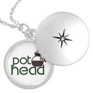 Pothead Silver Plated Necklace