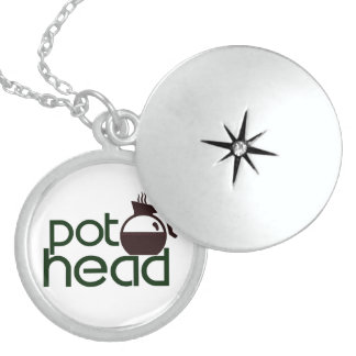 Pothead Sterling Silver Necklace