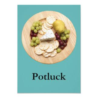"""Potluck 5"""" X 7"""" Invitation Card"""