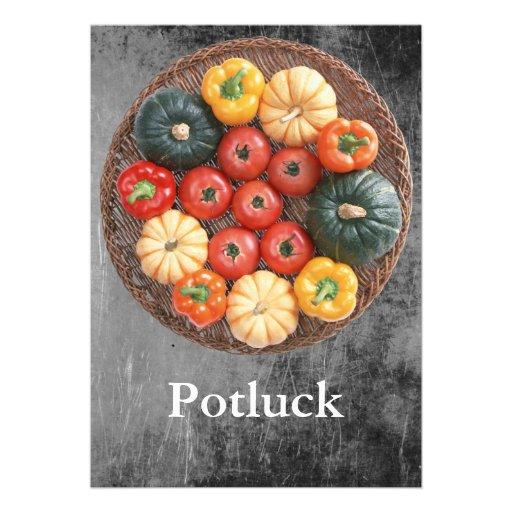 Potluck Personalized Invitations