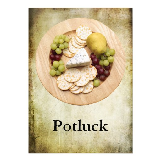 Potluck Personalized Announcement