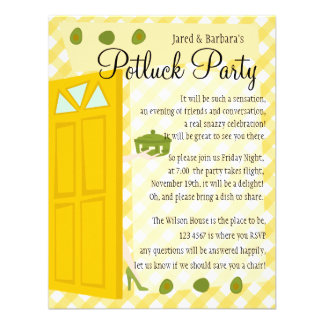Potluck Party Personalized Announcement
