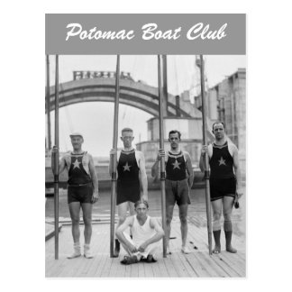 Potomac Boat Club Crew, 1921 Postcard