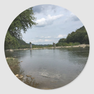 Potomac River through Harpers Ferry, WVA Classic Round Sticker