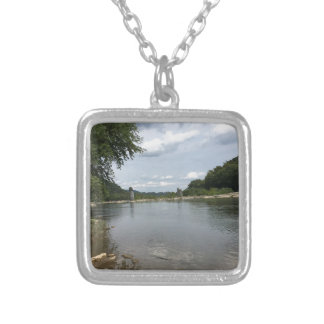 Potomac River through Harpers Ferry, WVA Silver Plated Necklace