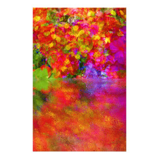 Potpourri Reflection flowers with reflections Stationery Paper