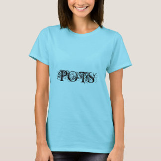 POTS Body Feels Like Chaos Artistic Text T-Shirt