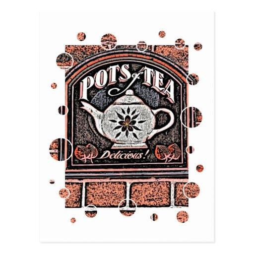 POTS OF TEA POST CARD
