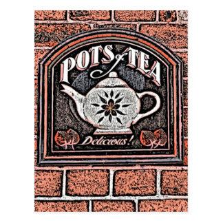 POTS OF TEA POST CARDS