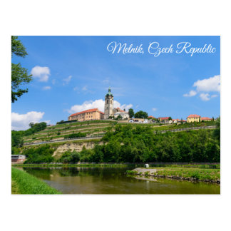 Potscard of the Mělník castle in Czech Republic Postcard