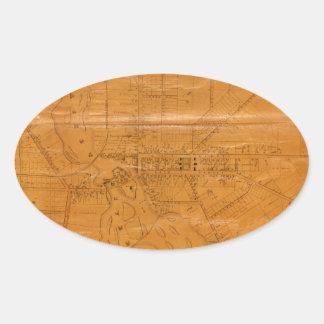Potsdam New York 1853 Oval Sticker