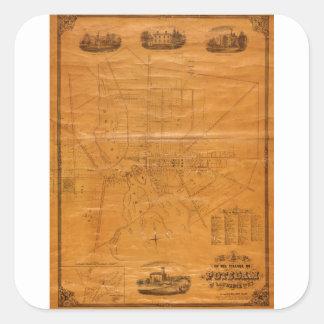 Potsdam New York 1853 Square Sticker
