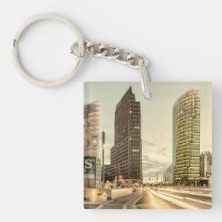 Potsdamer Platz in Berlin, Germany Single-Sided Square Acrylic Keychain