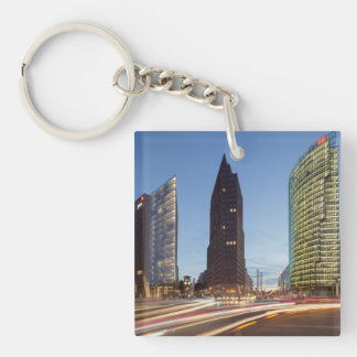 Potsdamer Platz in Berlin Single-Sided Square Acrylic Keychain