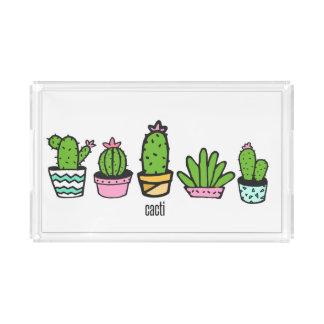 Potted Cacti Acrylic Tray