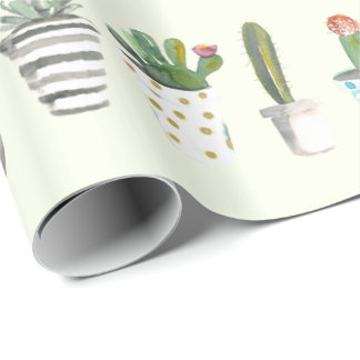 Potted Cacti Wrapping Paper