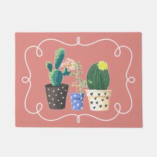 Potted Cactus Door Mat