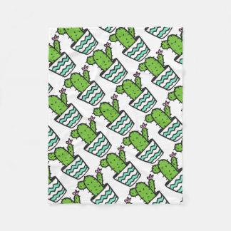 Potted Cactus Fifteen Fleece Blanket