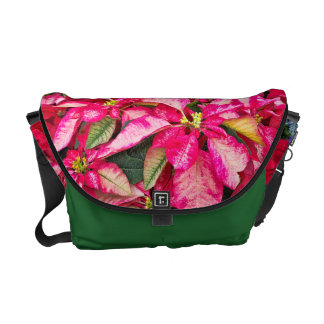 Potted Flower - Red Christmas Poinsettia Picture Commuter Bag
