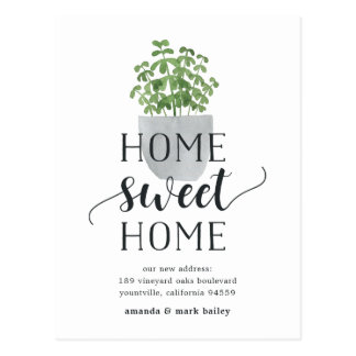 Potted Plant | Moving Announcement Postcard