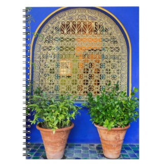 Potted Plants At Garden Spiral Notebook