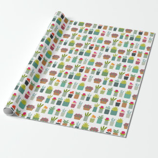 Potted Plants in the Garden Housewarming Wrapping Paper