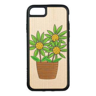 Potted Sunflowers Carved iPhone 8/7 Case