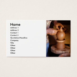 Potter at work business card
