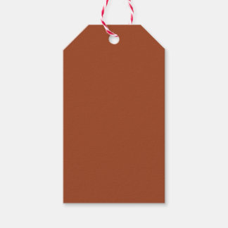 Potter's Clay Russet Orange Earth Tone Solid Color Pack Of Gift Tags