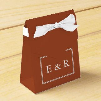 Potters Clay with White Wedding Detail Favor Boxes