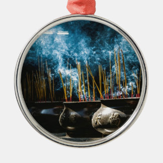 Pottery Incense Metal Ornament