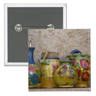 Pottery, Moustiers-Sainte-Marie, Provence, 2 Inch Square Button