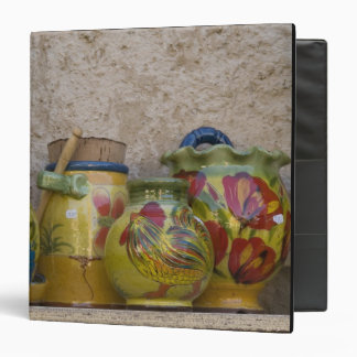 Pottery, Moustiers-Sainte-Marie, Provence, 3 Ring Binder