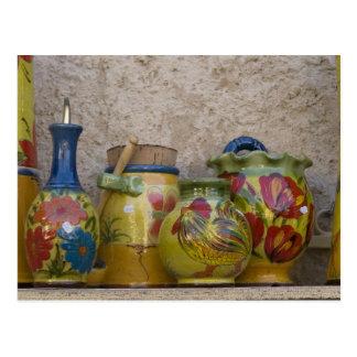 Pottery, Moustiers-Sainte-Marie, Provence, Postcard